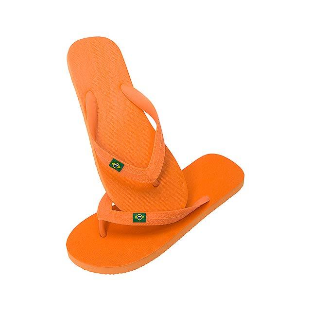 Brasileira žabky - oranžová