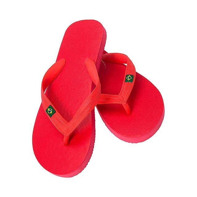 Brasileira žabky - červená