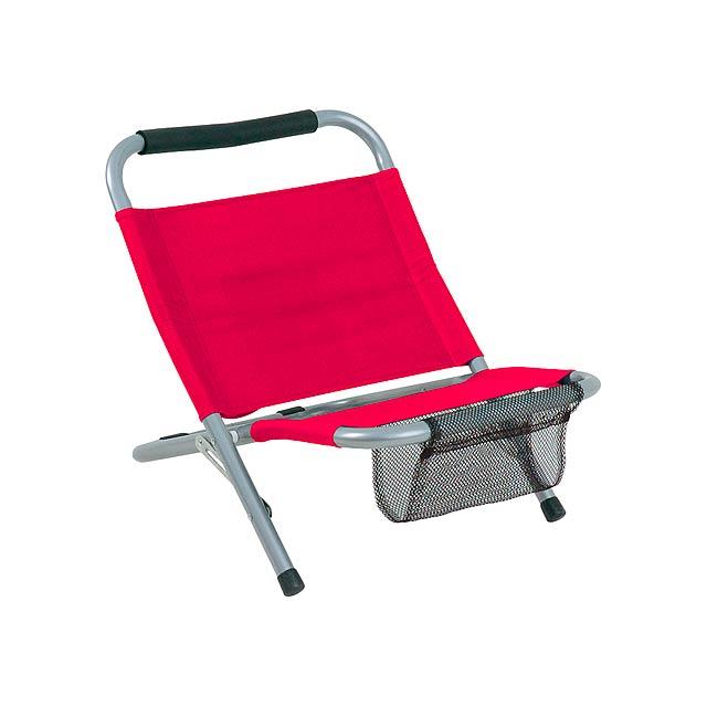 Mediterraneo skládací židle - červená