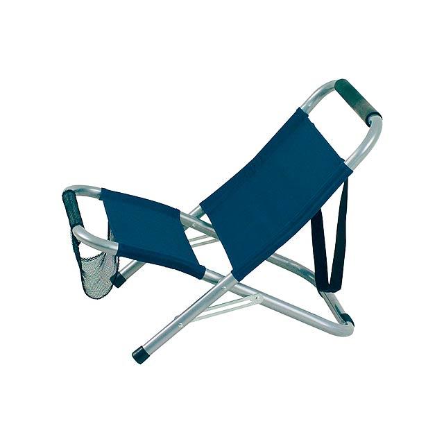 Mediterraneo skládací židle - modrá