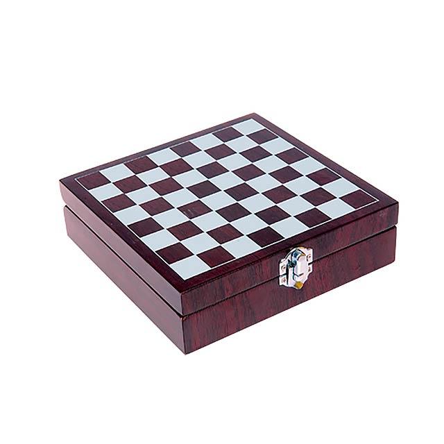Chess sada na víno a šachy - multicolor