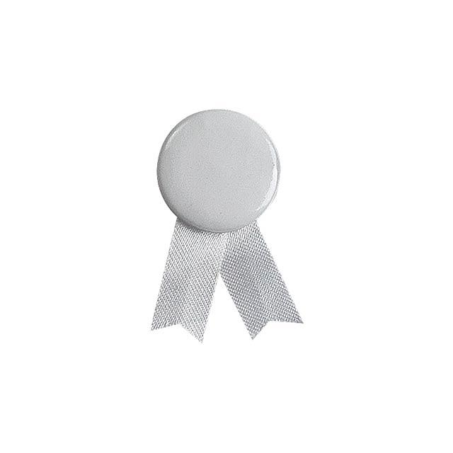Solidario placka se špendlíkem - biela
