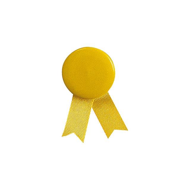 Solidario placka se špendlíkem - žltá