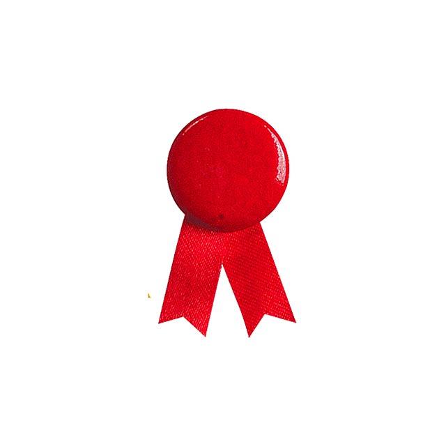 Solidario placka se špendlíkem - červená