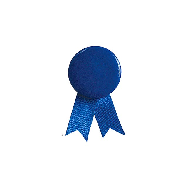 Solidario placka se špendlíkem - modrá