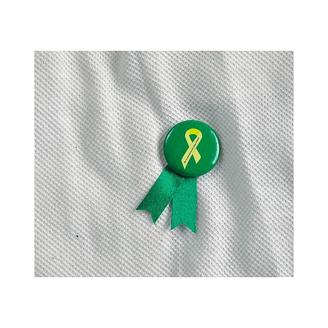 Solidario placka se špendlíkem - zelená