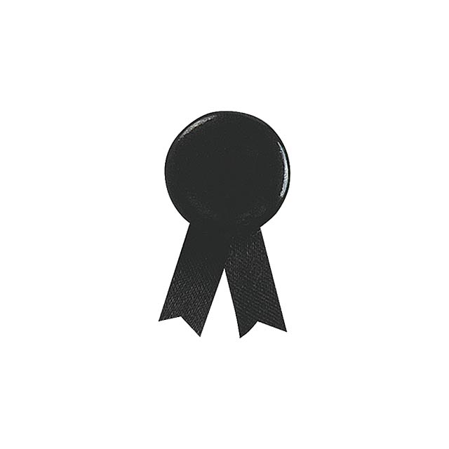 Solidario placka se špendlíkem - čierna