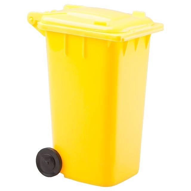 Dustbin stojan na psací potřeby - žlutá