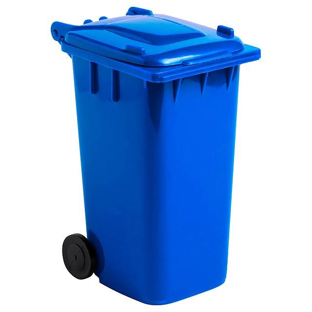 Dustbin stojan na psací potřeby - modrá