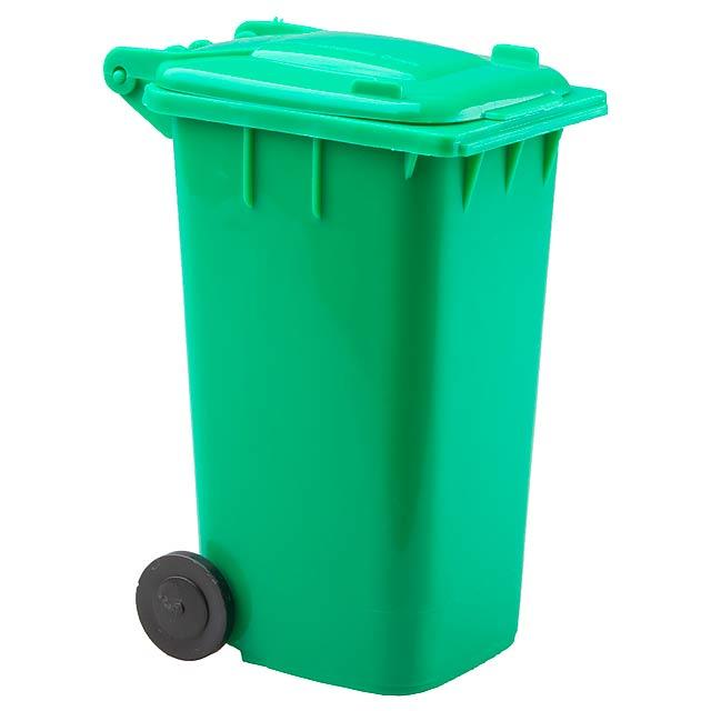 Dustbin stojan na psací potřeby - zelená