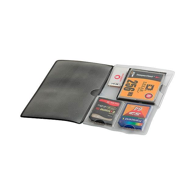 Multicard obal na paměťové karty - černá