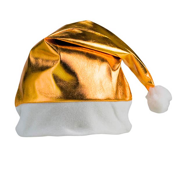 Shiny Santa čepice, stříbrná - zlatá