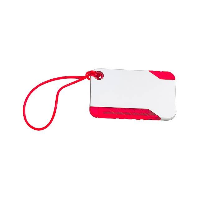 Yeq visačka na zavazadlo - červená
