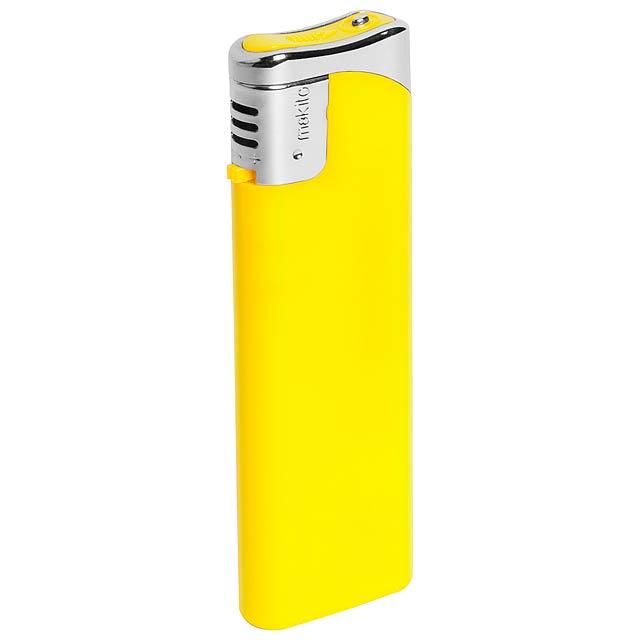 Plain zapalovač - žlutá