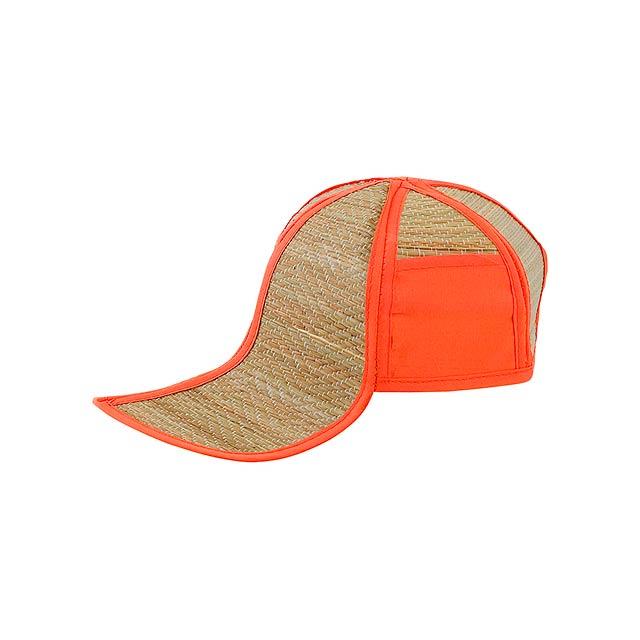 Hawaii slaměný klobouk - oranžová