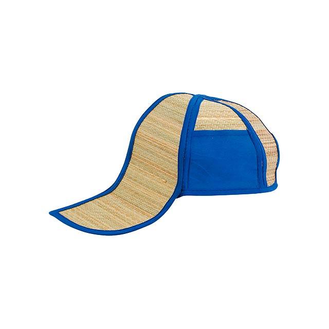 Hawaii slaměný klobouk - modrá