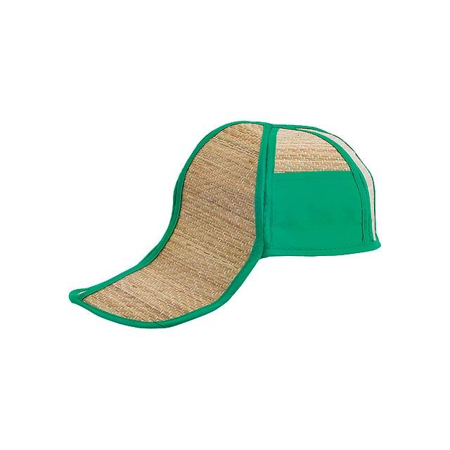 Hawaii slaměný klobouk - zelená