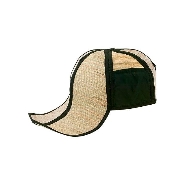 Hawaii slaměný klobouk - černá