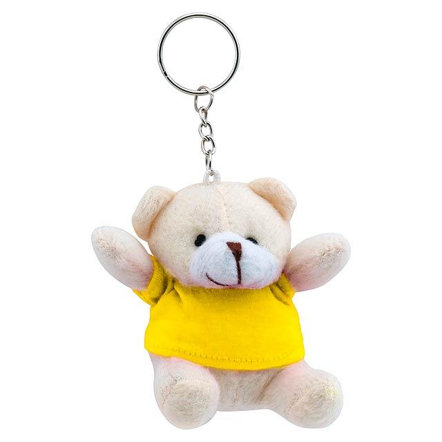 Teddy přívěšek na klíče - žlutá