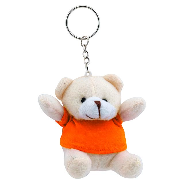 Teddy přívěšek na klíče - oranžová