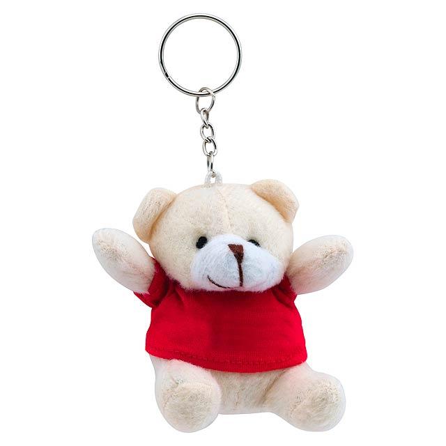 Teddy přívěšek na klíče - červená