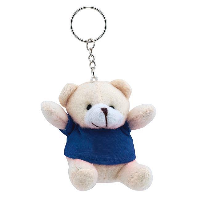 Teddy přívěšek na klíče - modrá