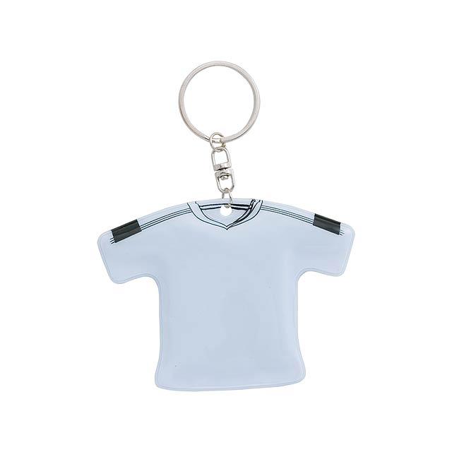 T-Shirt přívěšek na klíče - bílá