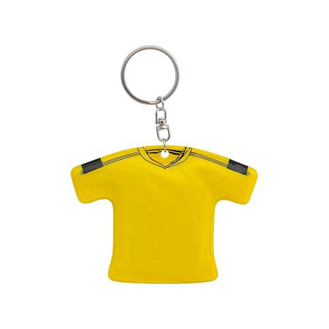 T-Shirt přívěšek na klíče - žlutá