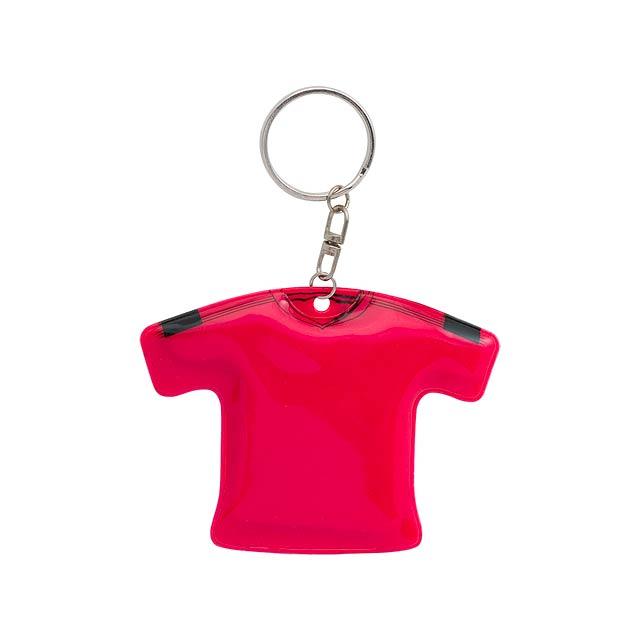 T-Shirt přívěšek na klíče - červená
