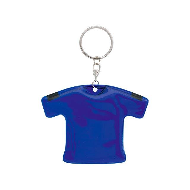 T-Shirt přívěšek na klíče - modrá