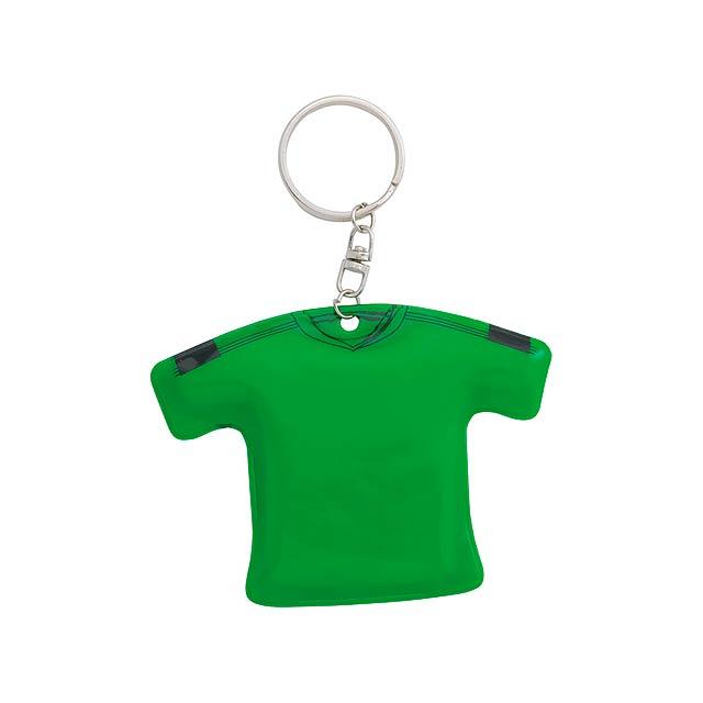 T-Shirt přívěšek na klíče - zelená