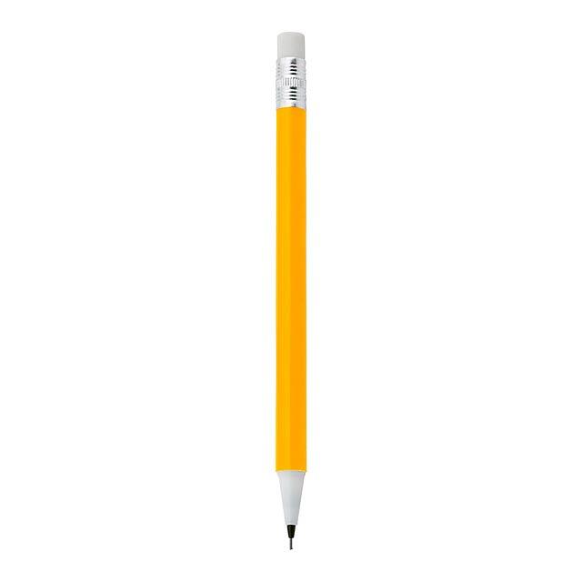 Castle tužka s gumou, 0,7 mm - žlutá