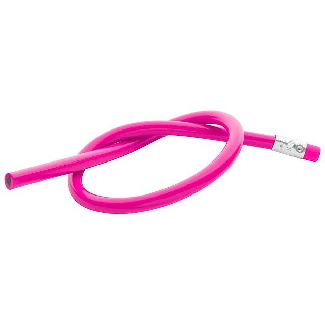Flexi elastische Bleistift - Fuchsie