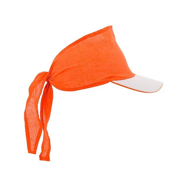 Inlady šátek s kšiltem - oranžová