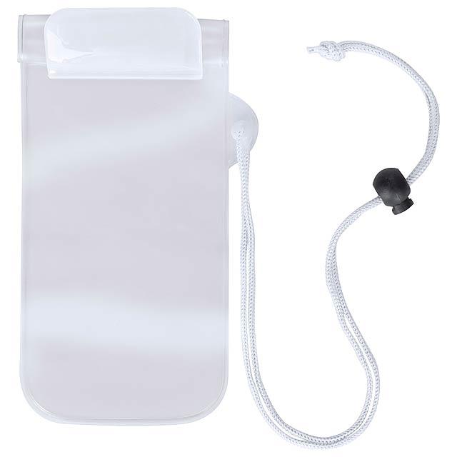 Waterproof mobile case - white