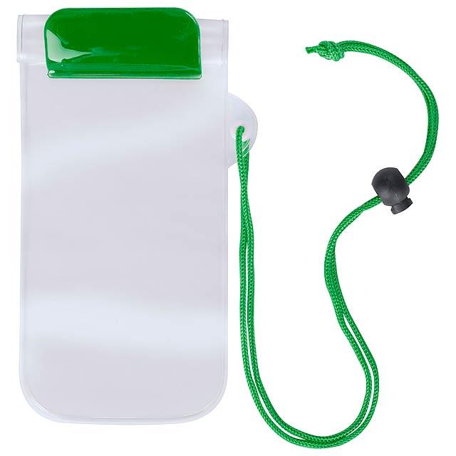 Waterpro voděodolný obal na mobil - zelená