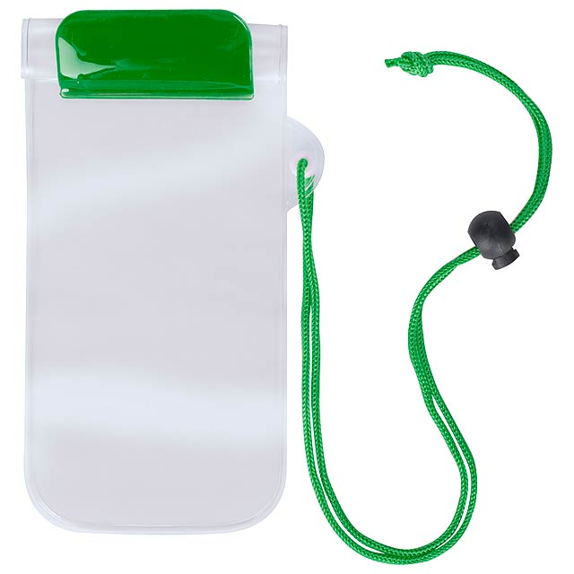 Waterproof mobile case - green