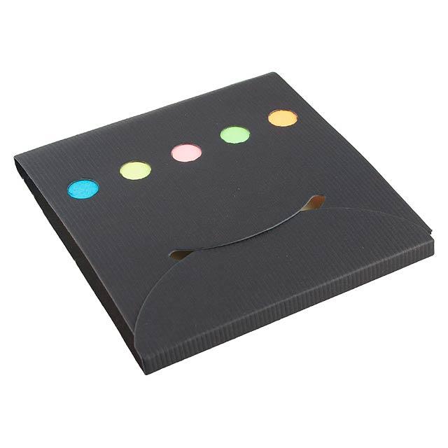 Sticky notepad - black