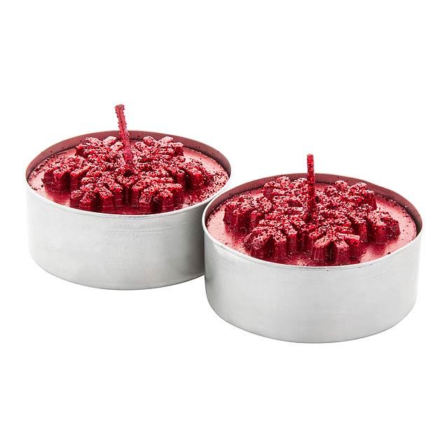 Duo sada svíček - červená