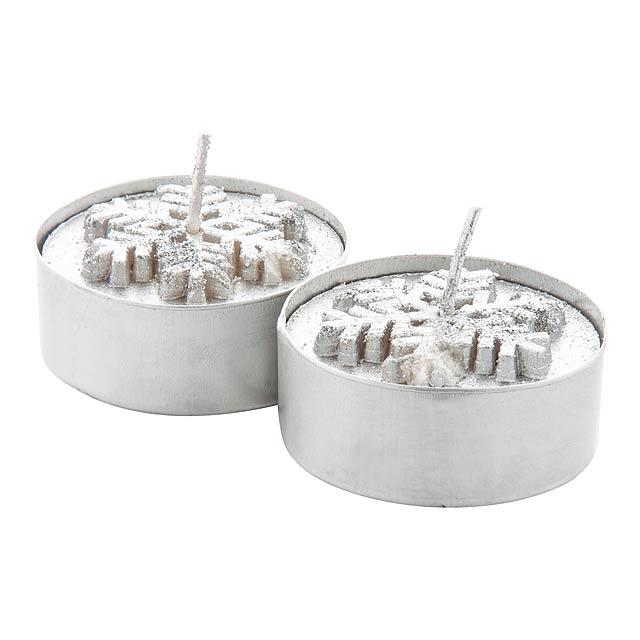 Duo sada svíček - stříbrná
