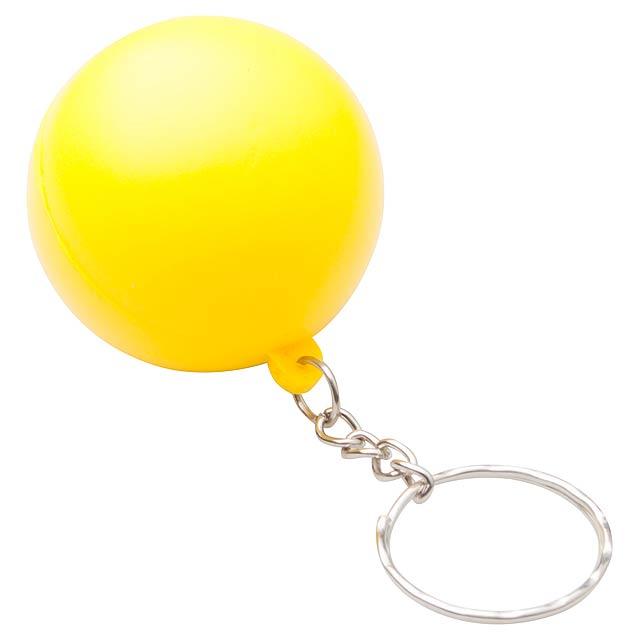 Calm antistresový přívěšek na klíče - žlutá