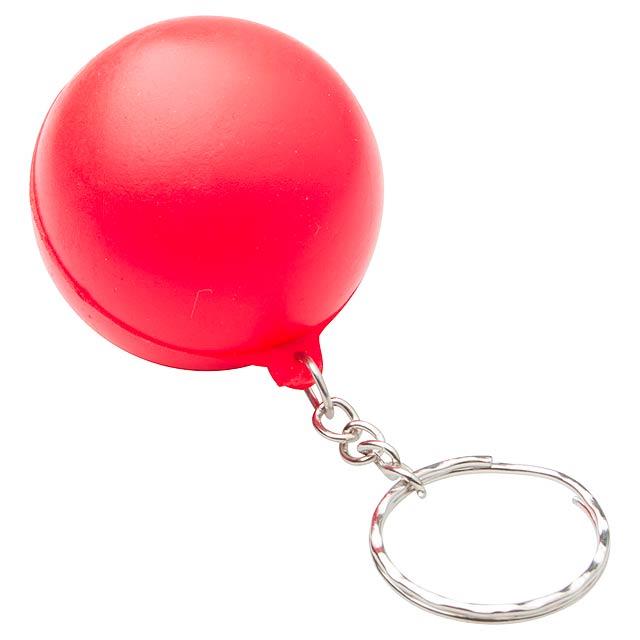 Calm antistresový přívěšek na klíče - červená