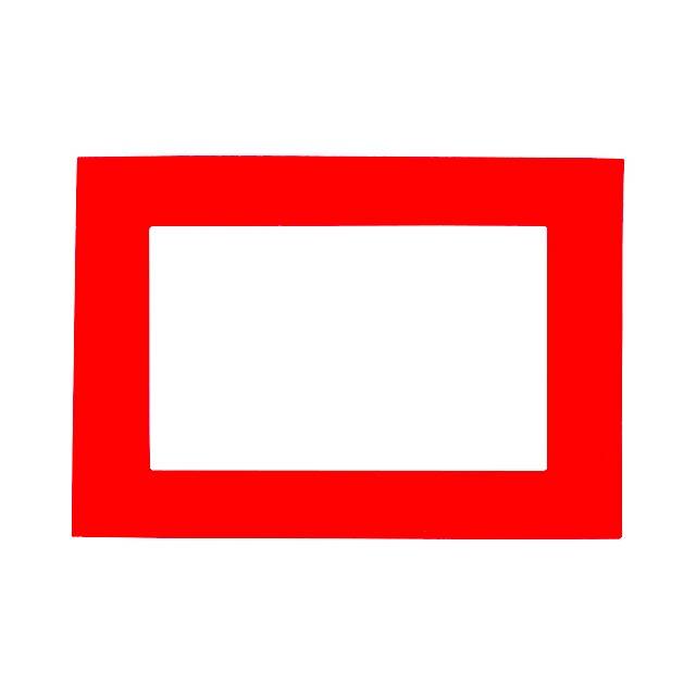 Magneto fotorámeček - červená