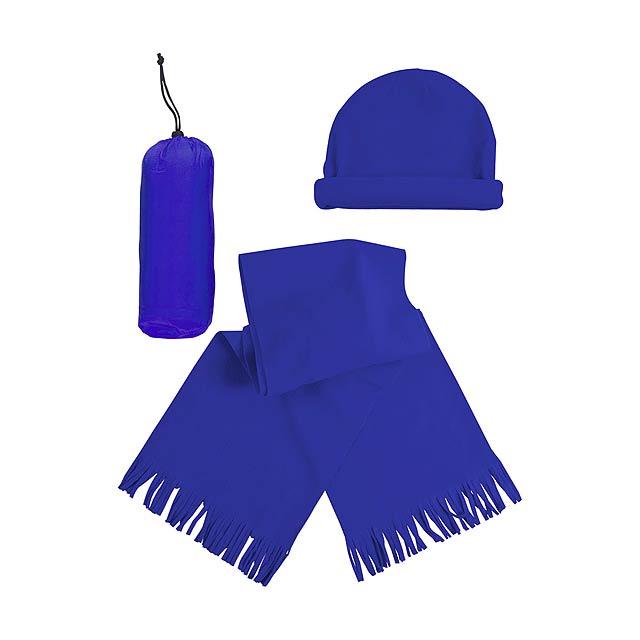 Estepa zimní set - modrá