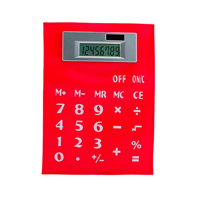 Roll ohebná kalkulačka - červená