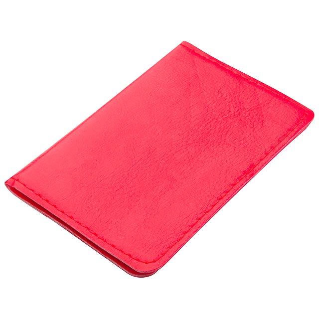 Twelve pouzdro na karty - červená