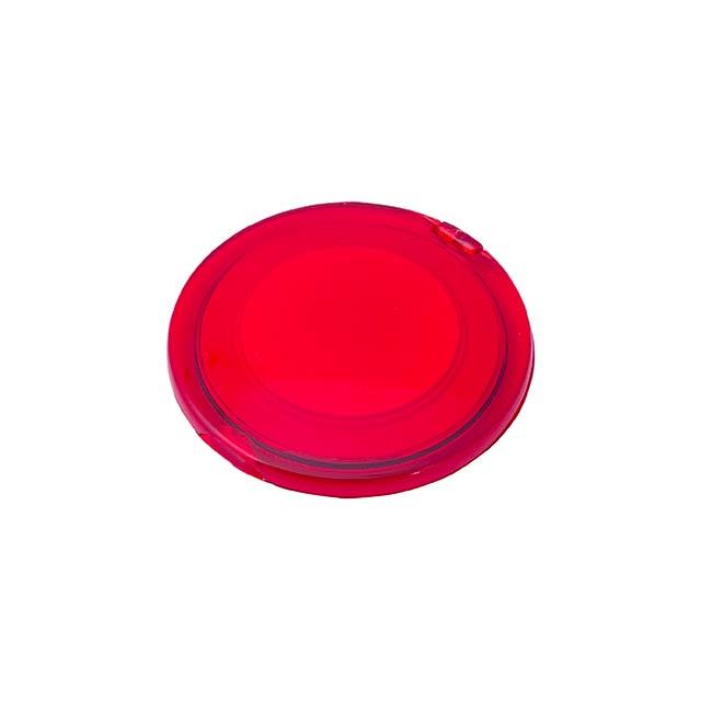 Naza kapesní zrcátko - červená