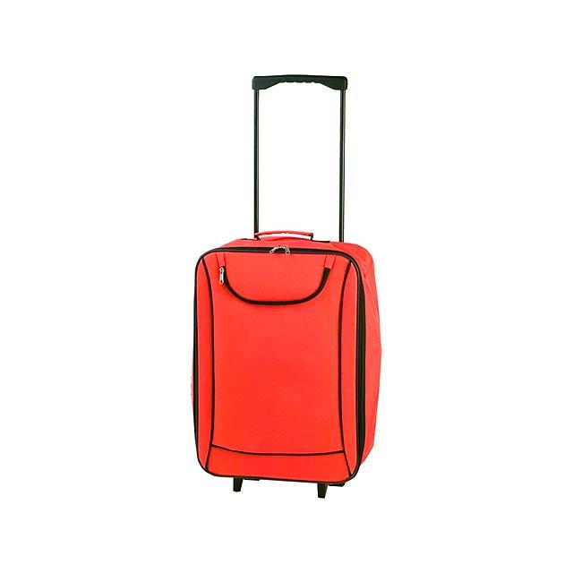 Soch kufřík na kolečkách - oranžová