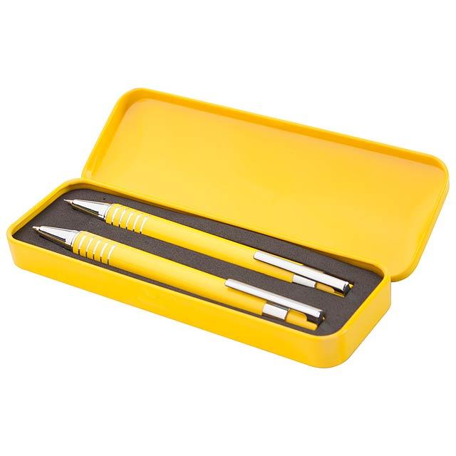 Sheridan sada kuličkového pera a mechanické tužky - žlutá