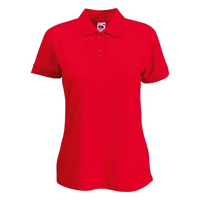 65/35 dámská polokošile - červená